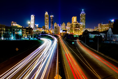 time lapse: Taken on February 6, 2016 - Time Lapse of Atlanta Traffic