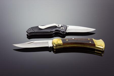 Taken on February 23, 2016 - Two pocket knives Stock fotó