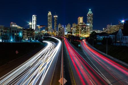 Ansicht von Atlanta von Jackson Street Bridge Standard-Bild