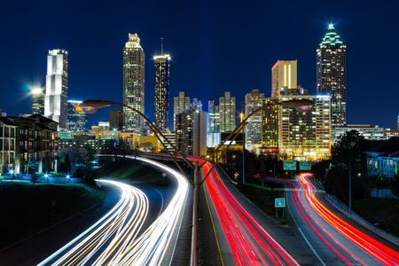 atl: View of Atlanta from Jackson Street  Bridge