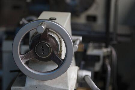milling: steering wheel the milling machine Stock Photo