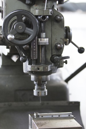 milling machine: The head and cutter the milling machine