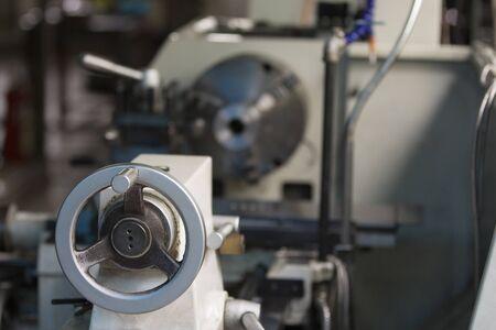 steering wheel the milling machine Stock Photo