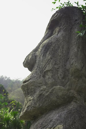 sculpture: stone face sculpture of Thailand