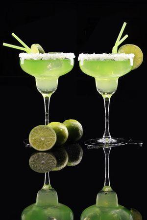 stirred: A couple of Margaritas on white Stock Photo
