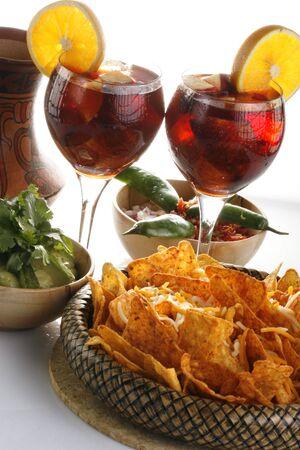 guacamole: Sangria, corn chips and guacamole 1