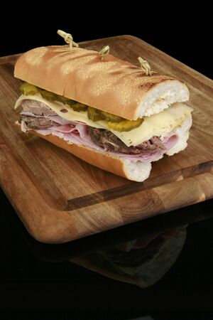 cafeteria tray: Grilled Cuban Sandwich