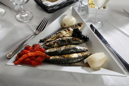red braised: Braised fresh giant sardines with red pepper
