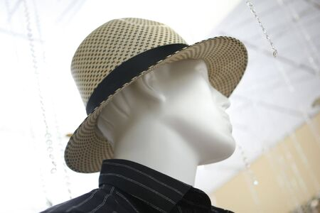 Mannequin and hat presentation background