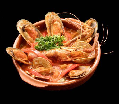 Spanish seafood casserole Stock Photo