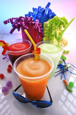 Happy kids party smoothies photo