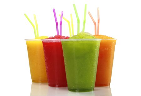 Frozen fruit juice shakes Stock Photo