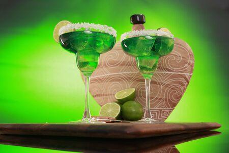 TexMex Mint Margaritas wide angle horizontal photo