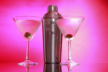 martini shaker: Pink Martini and shaker, not stirred horizontal