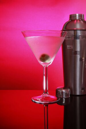 martini shaker: Pink Martini and shaker, not stirred right