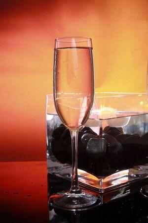 sparkly: Celebration sparkly in glass center
