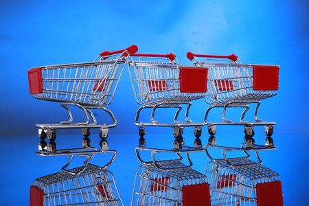 Grocery cart you can place your banner Stock Photo