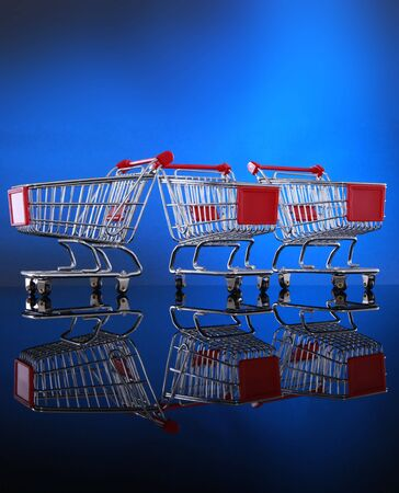 minuscule: Grocery cart you can place your banner Stock Photo