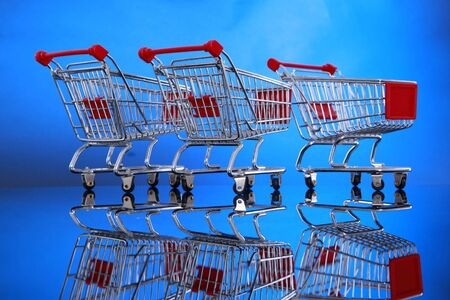Grocery cart you can place your banner Stock Photo - 4675558