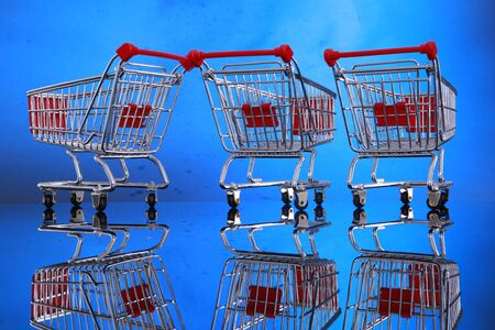 Grocery carts Stock Photo