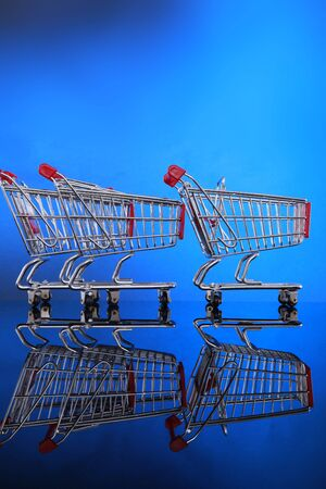 Grocery carts, one out of line Stock Photo - 4675554