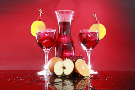 Fruit punch or Sangria depending on how much Red Wine is in it horizontal photo