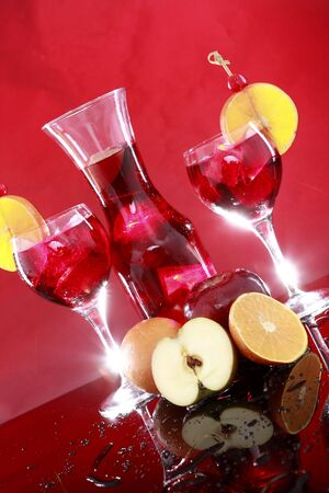 Fruit punch or Sangria depending on how much Red Wine is in it vertical photo