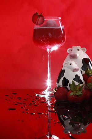 maraschino: Strawberry Smoothie turns into Daiquiri tonight Stock Photo