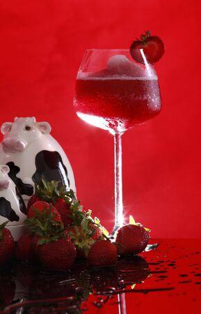 Strawberry Smoothie turns into Daiquiri tonight photo