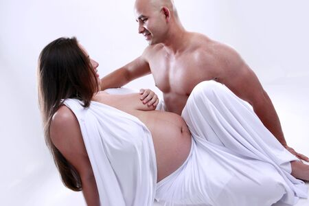 heavily: The love of a couple expecting a newborn