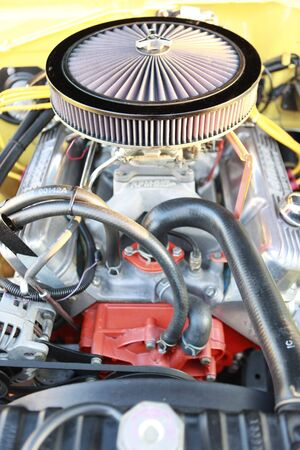 engine: Gasoline powered sports muscle car engine