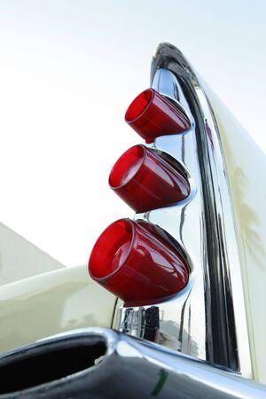 taillight: Vintage car taillight fin Stock Photo
