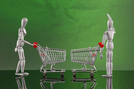 Shopping cart encounters Stock Photo - 4811522