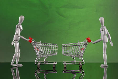 Shopping cart encounters Stock Photo - 4811521