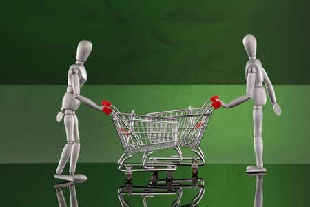 Shopping cart encounters Stock Photo - 4811520