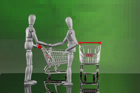 Shopping cart encounters - glad I met you! Stock Photo - 4811515