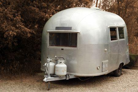 Vintage RV trailer camper photo
