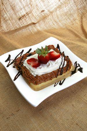4 milk sponge cake Stock Photo - 4841491
