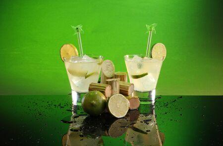 caipirinha: Caipirinha, whiskey sour or pisco sour with sugar cane and lime