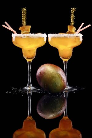 Mango margarita on-the-rocks photo