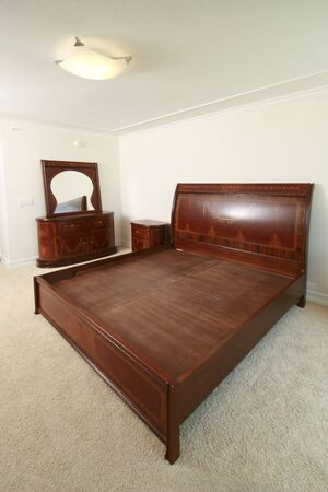Empty blank bedroom for interior design presentation photo