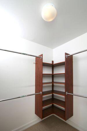Empty closet for storageinterior design presentation Stock Photo