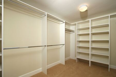 empty: Empty closet for storageinterior design presentation Stock Photo