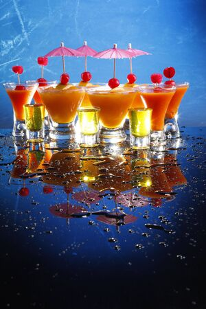 shooters: Party fruit daiquiris and shooters