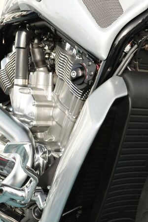 Close up of a high power motorcycle photo