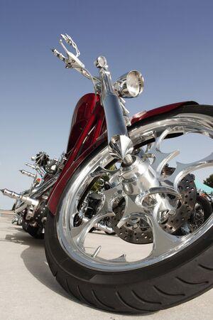op maat: Close up van een hoog vermogen van motorfietsen