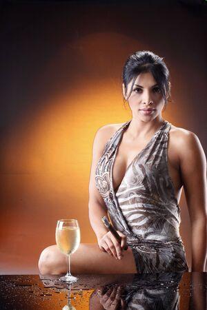 Good white wine and an Havana cigar