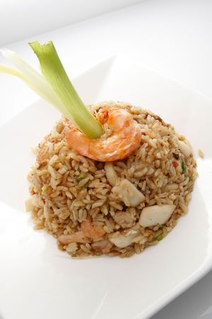 Chaufa rice from Peru, a chinese inspired recipe