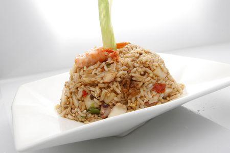 ペルー、中国インスピレーション レシピから Chaufa ライス