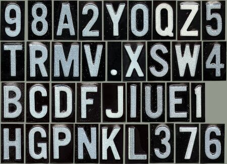 Grunge alphabet so you can compose your message photo